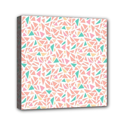 Geometric Abstract Triangles Background Mini Canvas 6  X 6