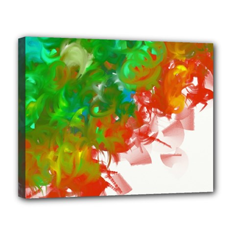 Digitally Painted Messy Paint Background Texture Canvas 14  X 11  by Simbadda
