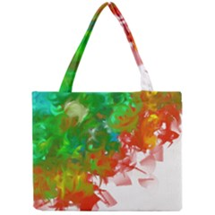 Digitally Painted Messy Paint Background Texture Mini Tote Bag by Simbadda