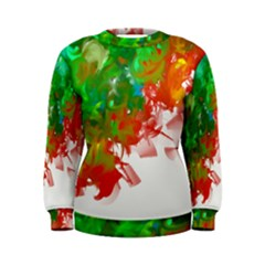 Digitally Painted Messy Paint Background Texture Women s Sweatshirt