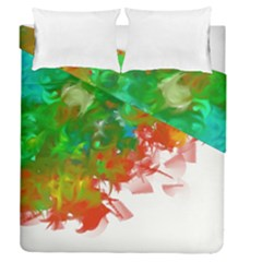 Digitally Painted Messy Paint Background Texture Duvet Cover Double Side (queen Size)