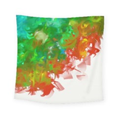 Digitally Painted Messy Paint Background Texture Square Tapestry (small) by Simbadda