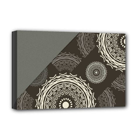 Abstract Mandala Background Pattern Deluxe Canvas 18  X 12   by Simbadda