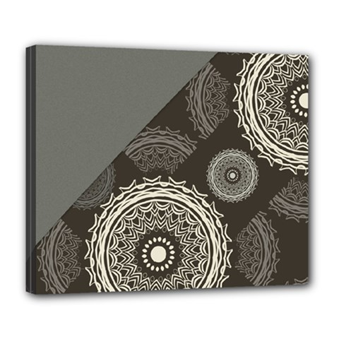 Abstract Mandala Background Pattern Deluxe Canvas 24  X 20