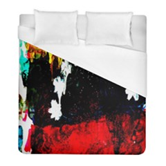 Grunge Abstract In Dark Duvet Cover (full/ Double Size) by Simbadda