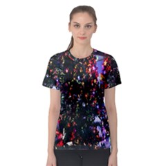 Lit Christmas Trees Prelit Creating A Colorful Pattern Women s Sport Mesh Tee by Simbadda