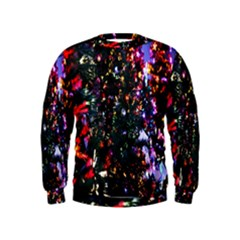 Lit Christmas Trees Prelit Creating A Colorful Pattern Kids  Sweatshirt
