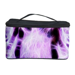 Fractal Wire White Tiger Cosmetic Storage Case by Simbadda