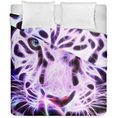 Fractal Wire White Tiger Duvet Cover Double Side (california King Size)