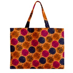 Colorful Trees Background Pattern Zipper Mini Tote Bag by Simbadda