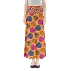 Colorful Trees Background Pattern Maxi Skirts