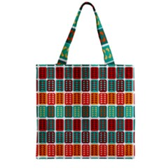 Bricks Abstract Seamless Pattern Grocery Tote Bag