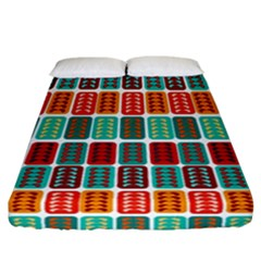 Bricks Abstract Seamless Pattern Fitted Sheet (california King Size) by Simbadda