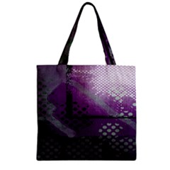Evil Moon Dark Background With An Abstract Moonlit Landscape Zipper Grocery Tote Bag
