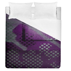 Evil Moon Dark Background With An Abstract Moonlit Landscape Duvet Cover (queen Size) by Simbadda