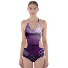 Evil Moon Dark Background With An Abstract Moonlit Landscape Cut Out One Piece Swimsuit