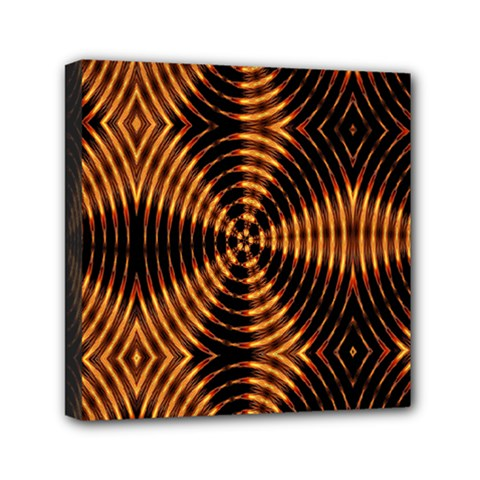 Fractal Pattern Of Fire Color Mini Canvas 6  X 6  by Simbadda
