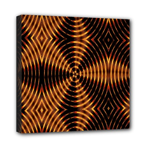 Fractal Pattern Of Fire Color Mini Canvas 8  X 8  by Simbadda