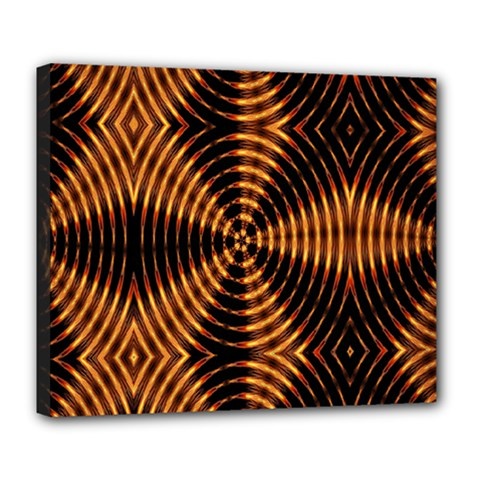 Fractal Pattern Of Fire Color Deluxe Canvas 24  X 20   by Simbadda