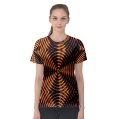 Fractal Pattern Of Fire Color Women s Sport Mesh Tee by Simbadda
