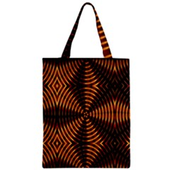 Fractal Pattern Of Fire Color Zipper Classic Tote Bag by Simbadda