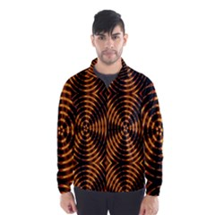 Fractal Pattern Of Fire Color Wind Breaker (men) by Simbadda