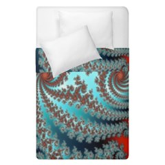 Digital Fractal Pattern Duvet Cover Double Side (single Size) by Simbadda