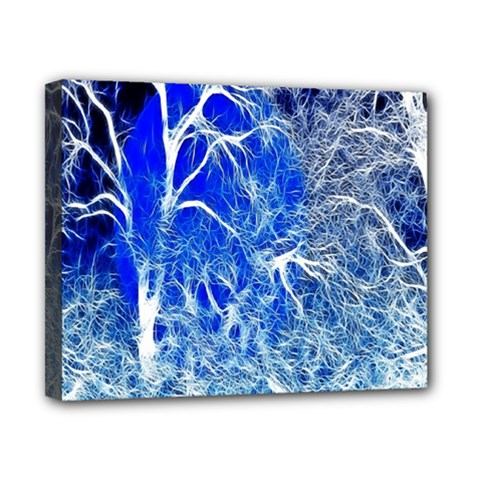Winter Blue Moon Fractal Forest Background Canvas 10  X 8  by Simbadda