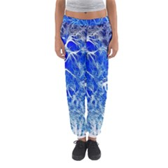 Winter Blue Moon Fractal Forest Background Women s Jogger Sweatpants