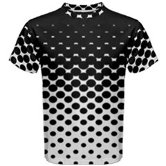 Halftone Gradient Pattern Men s Cotton Tee