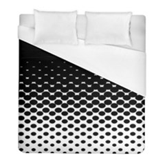 Halftone Gradient Pattern Duvet Cover (full/ Double Size) by Simbadda