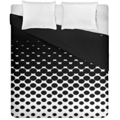 Halftone Gradient Pattern Duvet Cover Double Side (california King Size) by Simbadda
