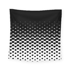 Halftone Gradient Pattern Square Tapestry (small) by Simbadda