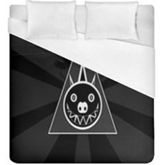 Abstract Pigs Triangle Duvet Cover (king Size) by Simbadda