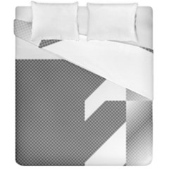 Gradient Base Duvet Cover Double Side (california King Size) by Simbadda
