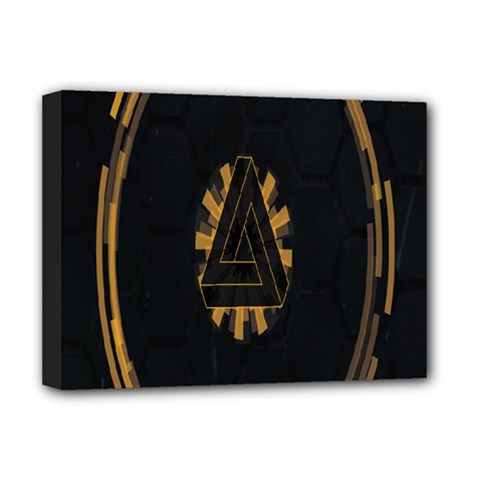 Geometry Interfaces Deus Ex Human Revolution Deus Ex Penrose Triangle Deluxe Canvas 16  X 12