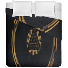 Geometry Interfaces Deus Ex Human Revolution Deus Ex Penrose Triangle Duvet Cover Double Side (california King Size) by Simbadda