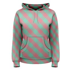 Cross Pink Green Gingham Digital Paper Women s Pullover Hoodie
