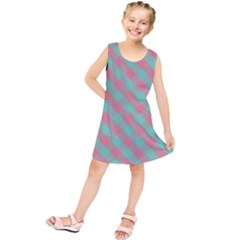 Cross Pink Green Gingham Digital Paper Kids  Tunic Dress