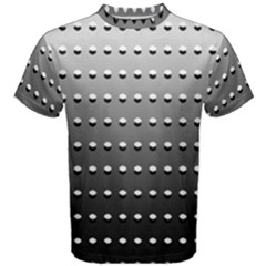 Gradient Oval Pattern Men s Cotton Tee by Simbadda
