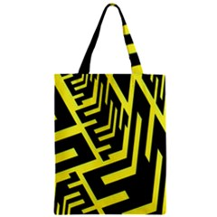 Pattern Abstract Zipper Classic Tote Bag by Simbadda