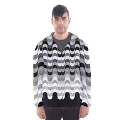 Chevron Wave Triangle Waves Grey Black Hooded Wind Breaker (men) by Alisyart