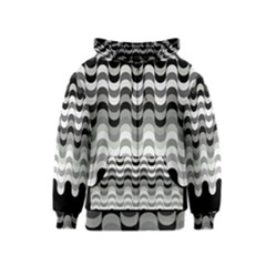 Chevron Wave Triangle Waves Grey Black Kids  Zipper Hoodie by Alisyart