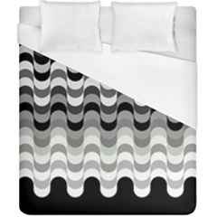 Chevron Wave Triangle Waves Grey Black Duvet Cover (california King Size) by Alisyart