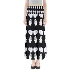 Cute Ghost Pattern Maxi Skirts