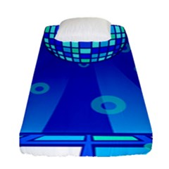Disco Ball Retina Blue Circle Light Fitted Sheet (single Size)