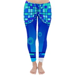 Disco Ball Retina Blue Circle Light Classic Winter Leggings