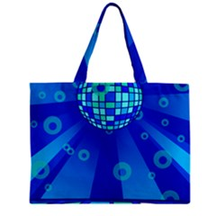 Disco Ball Retina Blue Circle Light Zipper Mini Tote Bag by Alisyart
