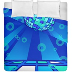 Disco Ball Retina Blue Circle Light Duvet Cover Double Side (king Size)