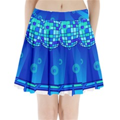 Disco Ball Retina Blue Circle Light Pleated Mini Skirt by Alisyart